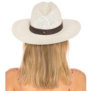 Janessa Leone Marcell Straw Fedora Hat Small